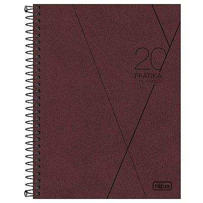 Agenda Planner Prátika 2020 Bordô - Tilibra