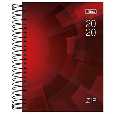 Agenda Diária Zip 2020 Vermelha - Tilibra