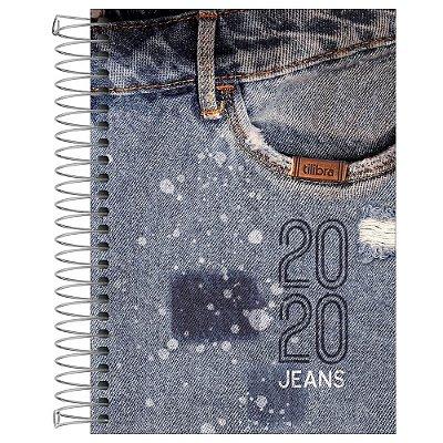 Agenda Diária Jeans 2020 - Estonado - Tilibra