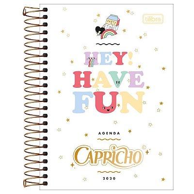 Agenda Diária Capricho 2020 Hey Have Fun - Tilibra