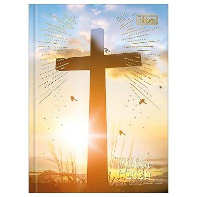 Agenda Diária Costurada Bíblica 2020 Cruz - Tilibra