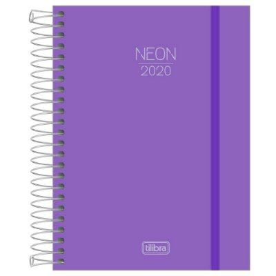 Agenda Diária Neon 2020 - Roxo - Tilibra