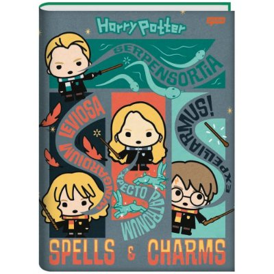 Caderno Brochura Harry Potter - Spells e Charms - 96 Folhas - Jandaia