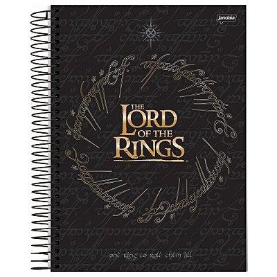 Caderno O Senhor dos Anéis - Preto - 200 folhas - Jandaia