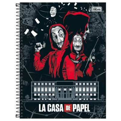 Caderno La Casa de Papel - Casa da Moeda - 160 Folhas - Tilibra