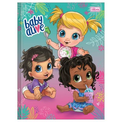 Caderno Brochura Baby Alive Friends - Tilibra