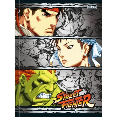 Caderno Brochura Street Fighter Trio - Tilibra