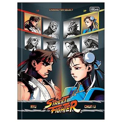 Caderno Brochura Street Fighter Select - Tilibra