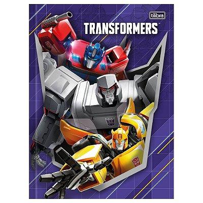 Caderno Brochura Transformers - Trio - 80 Folhas - Tilibra