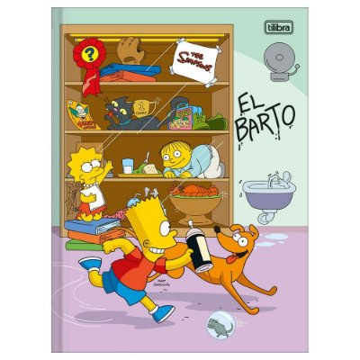 Caderno Brochura The Simpsons - El Barto - 48 Folhas - Tilibra