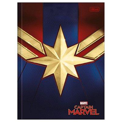 Caderno Brochura Capitã Marvel Star - Tilibra