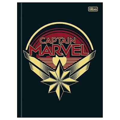 Caderno Brochura Capitã Marvel Logo - Tilibra
