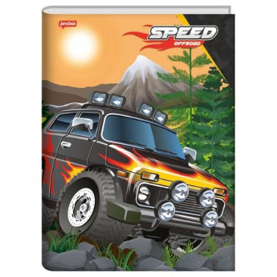 Caderno Brochura Speed Monsters Fogo - 96 Folhas - Jandaia