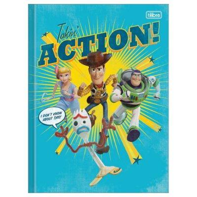 Caderno Brochura Toy Story 4 Action - 80 Folhas - Tilibra