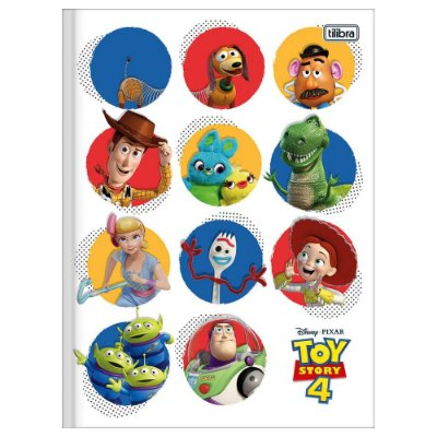 Caderno Brochura Toy Story 4 Personagens - 80 Folhas - Foroni