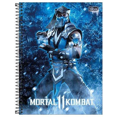 Caderno Mortal Kombat 11 - Sub Zero - 80 Folhas - Tilibra