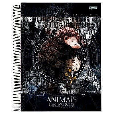 Caderno Animais Fantástcos - Pelúcio - 96 folhas - Jandaia