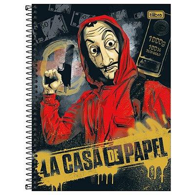 Caderno La Casa de Papel - Ouro - 256 Folhas - Tilibra