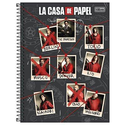 Caderno La Casa de Papel - Personagens - 256 Folhas - Tilibra