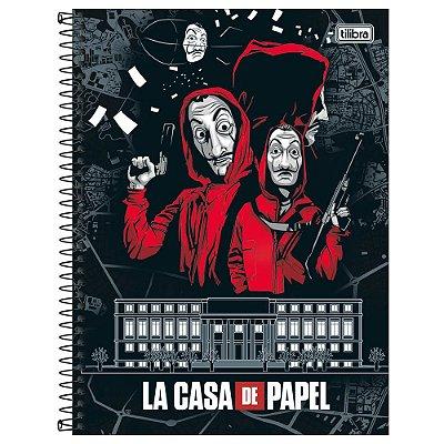 Caderno La Casa de Papel - Casa da Moeda - 256 Folhas - Tilibra