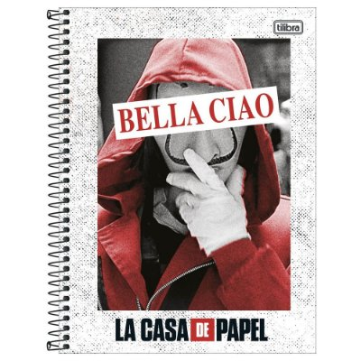 Caderno La Casa de Papel - Bella Ciao - 256 Folhas - Tilibra