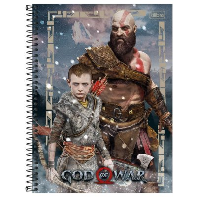 Caderno God of War - A Espera - 160 Folhas - Tilibra