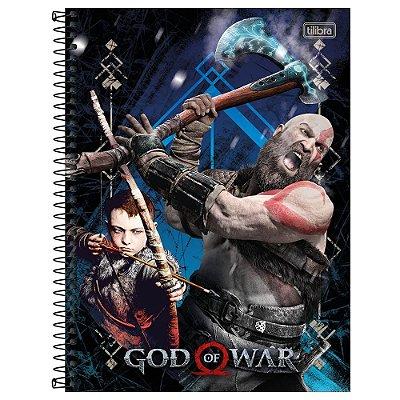 Caderno God of War - Ataque - 160 Folhas - Tilibra