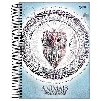 Caderno Animais Fantástcos - Fwooper - 200 folhas - Jandaia