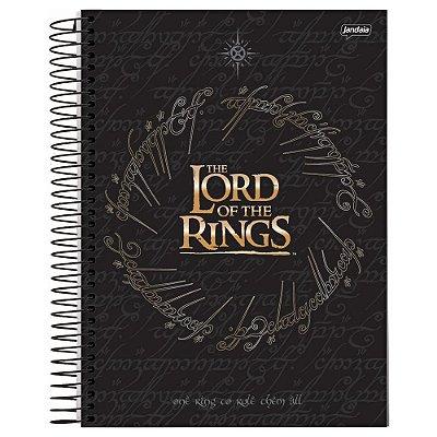 Caderno O Senhor dos Anéis - Preto - 96 folhas - Jandaia