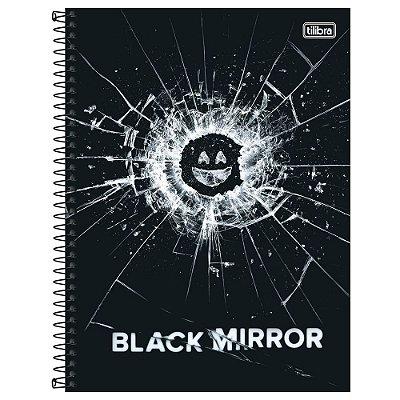 Caderno Black Mirror - Vidro - 80 Folhas - Tilibra