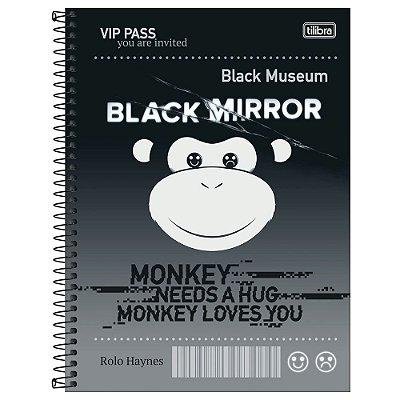 Caderno Black Mirror - Monkey - 80 Folhas - Tilibra
