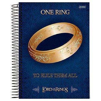 Caderno O Senhor dos Anéis - Azul - 96 folhas - Jandaia