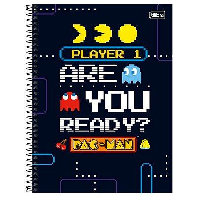 Caderno Pac Man - Are You Ready? - 80 Folhas - Tilibra