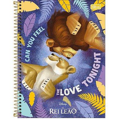 Caderno O Rei Leão - Love Tonight - 80 Folhas - Tilibra