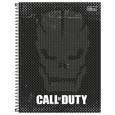 Caderno Call of Duty - Máscara - 80 Folhas - Jandaia