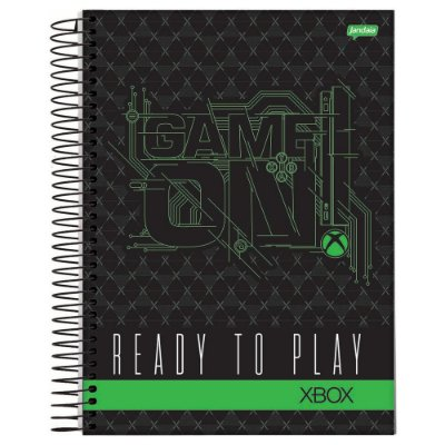 Caderno XBOX - Game On - 200 Folhas - Jandaia
