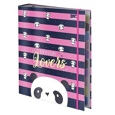 Caderno Argolado Trendy Panda - 10 Matérias - DAC