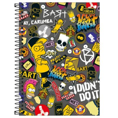 Caderno Os Simpsons - I Didn't Do It - 160 Folhas - Tilibra