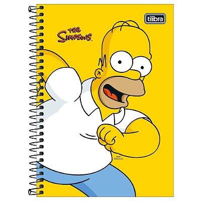 Caderno Os Simpsons - Homer - 160 Folhas - Tilibra