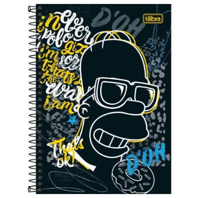 Caderno Os Simpsons - D'oh - 160 Folhas - Tilibra