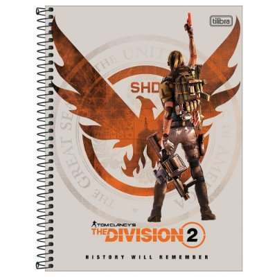 Caderno The Division - History Will Remember - 160 Folhas - Tilibra