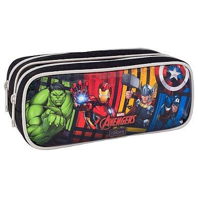 Estojo Duplo Avengers - Os Vingadores - Tilibra