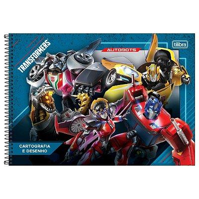 Caderno de Cartografia e Desenho Transformers - Azul - Tilibra
