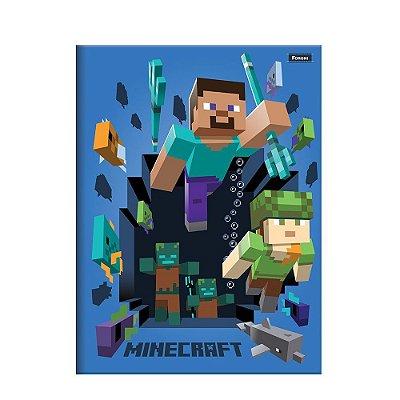 Caderno Brochura Pequeno Minecraft - Alex e Steve - Foroni