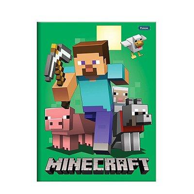 Caderno Brochura Pequeno Minecraft - Steve - Foroni