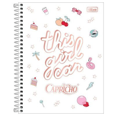 Caderno Colegial Capricho - This Girl Can - 80 Folhas - Tilibra