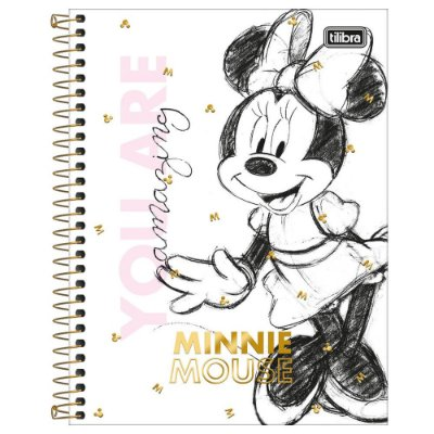 Caderno Colegial Minnie - Amazing - 160 Folhas - Tilibra