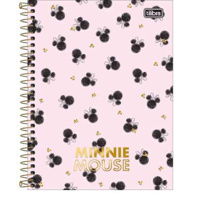 Caderno Colegial Minnie - Rosa - 160 Folhas - Tilibra