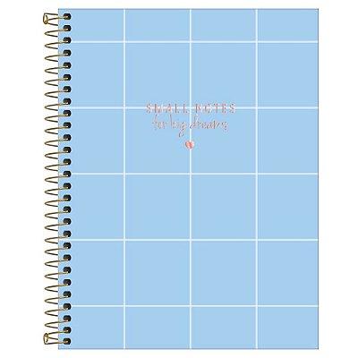 Caderno Colegial Soho - Azul Quadros - 80 Folhas - Tilibra