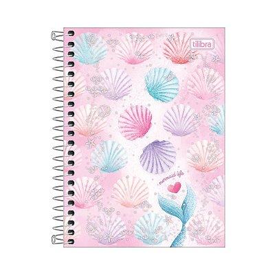 Caderneta Wonder - Conchas Coloridas - 80 Folhas - Tilibra